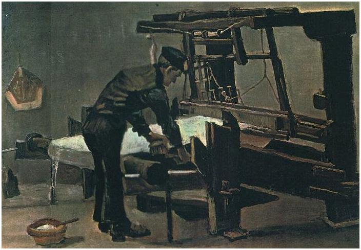 Tejedor De Pie Delante De Un Telar De Vincent Van Gogh 737 Pinturas óleo Sobre Tela