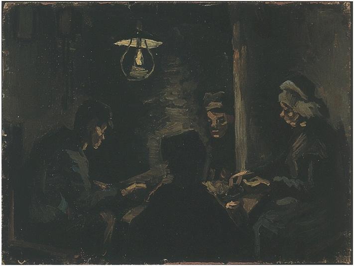 Estudio para 39 los comedores de papas 39 de vincent van gogh 601 pinturas leo sobre tela - Van gogh comedores de patatas ...