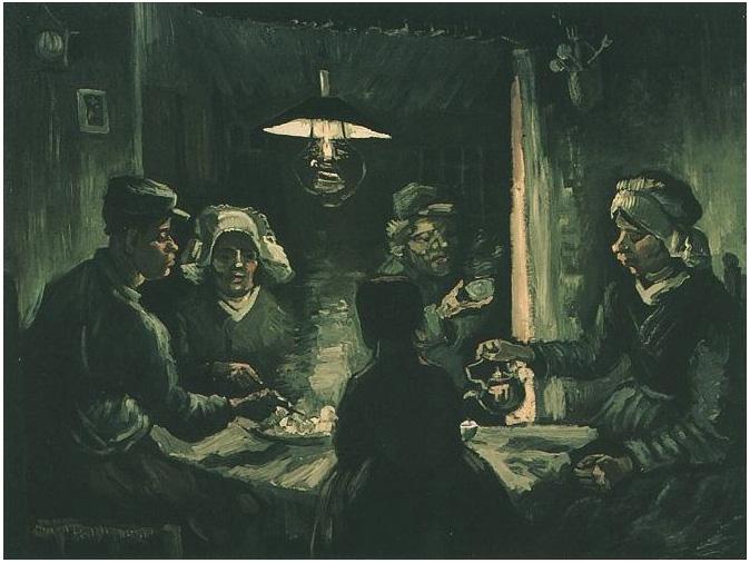 Los comedores de papas de Vincent van Gogh   454   Pinturas   Óleo ...
