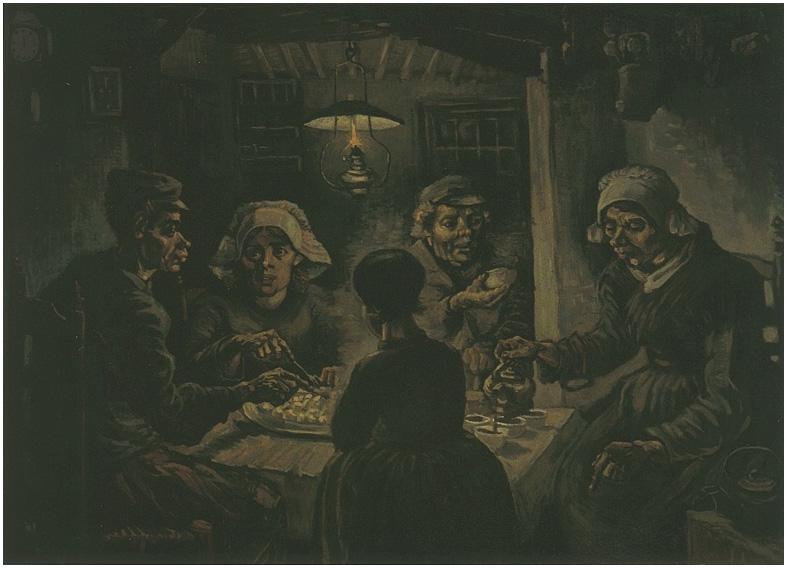 Los comedores de papas de Vincent van Gogh | 453 | Pinturas | Óleo ...