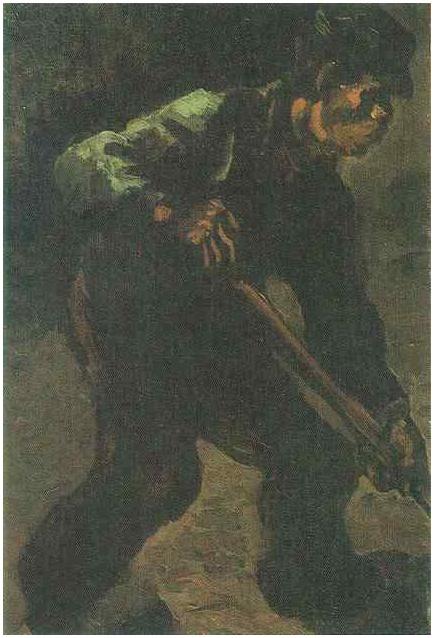 Peasant Digging By Vincent Van Gogh 395 Painting