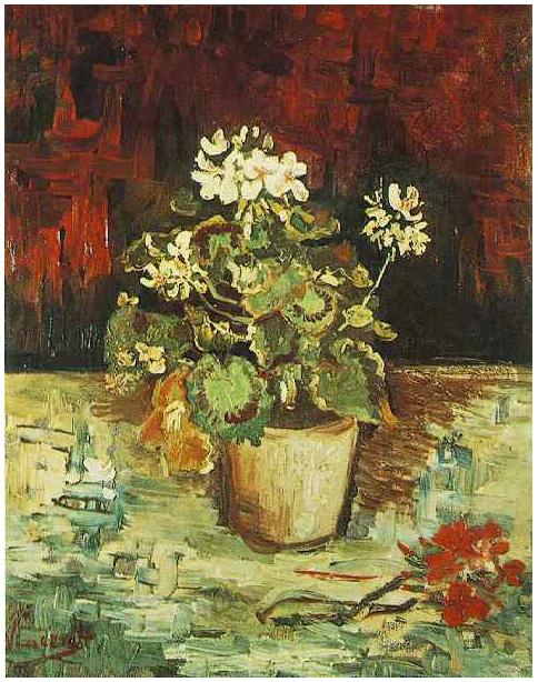 Vincent van Gogh's Geranium in a Flowerpot Painting