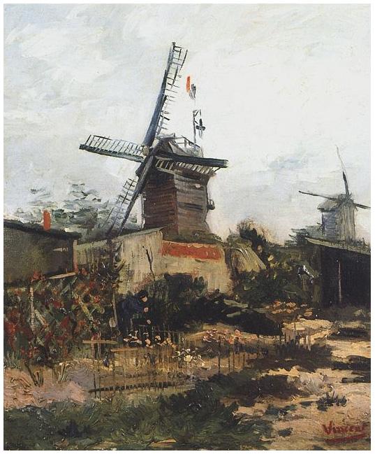Le Moulin de Blute Fin - Vincent van Gogh