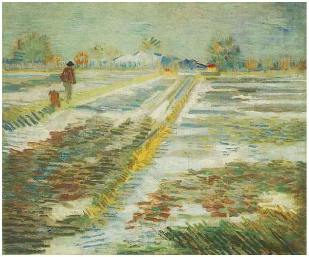Resultado de imagen para Paisaje con nievede Vincent Van Gogh
