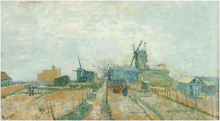 Vegetable Garden in Montmartre by Vincent Van Gogh 689