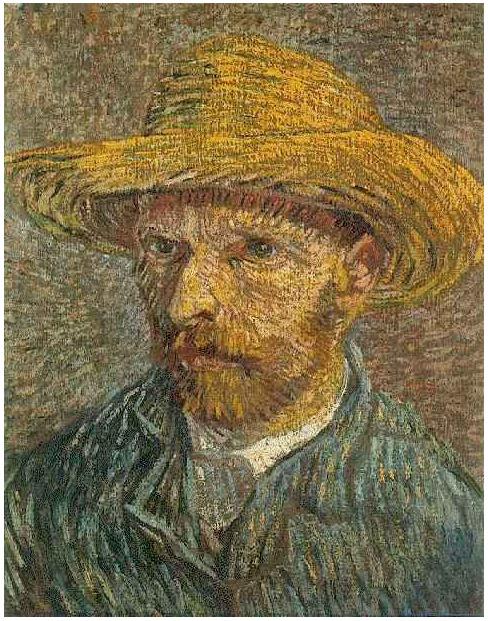 ff6c080af0519 Vincent van Gogh s Autorretrato con sombrero de paja Painting