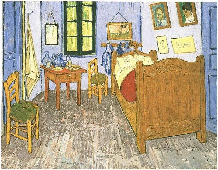 Vincent van Gogh's Dormitorio de Vincent en Arles Painting
