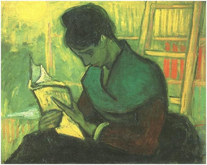 La lectora de novela de Vincent van Gogh | 332 | Pinturas | Óleo sobre tela