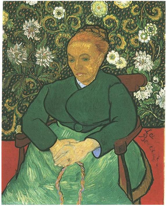 Van Gogh Painting La Berceuse (Augustine Roulin)