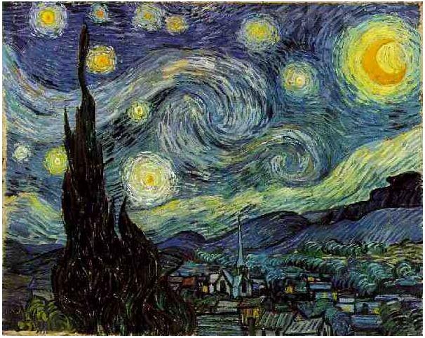 Vincent van Gogh's Noche estrellada Painting
