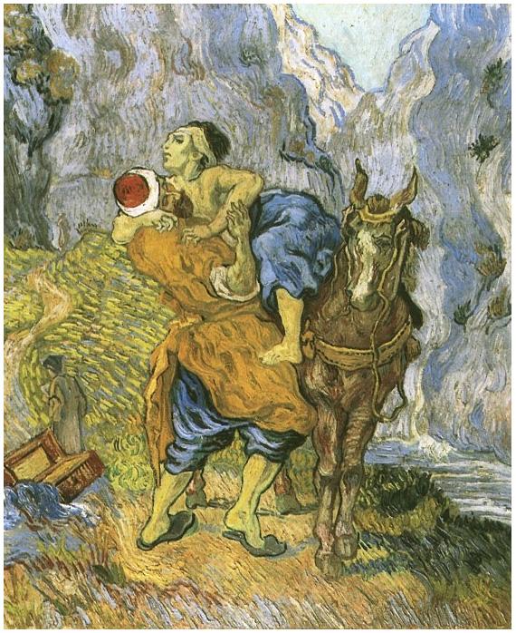 Vincent van Gogh's El buen samaritano (después de Dalcroix) Painting