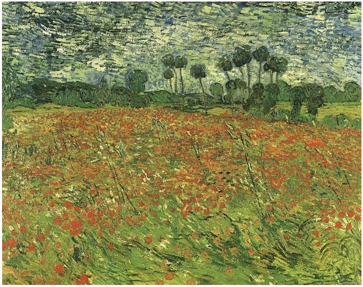 Vincent van Gogh's Campo con amapolas Painting