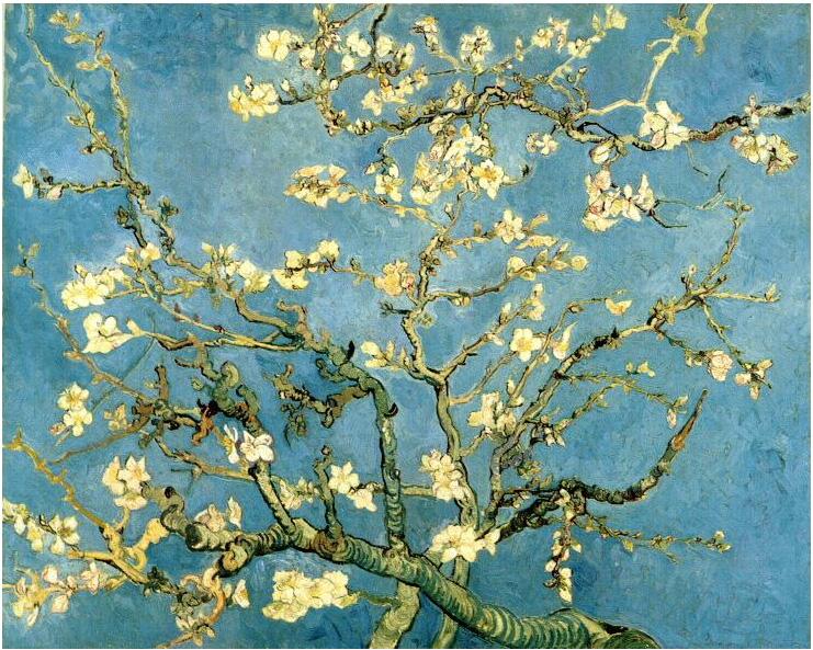 Van Gogh, Pintura de Almendro en flor