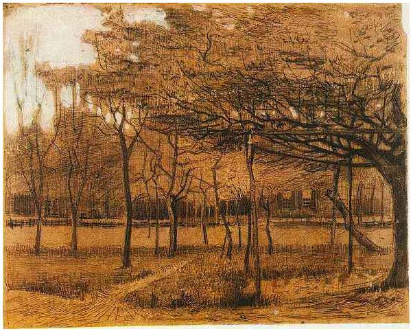 Resultado de imagen de paisaje con arboles van coch