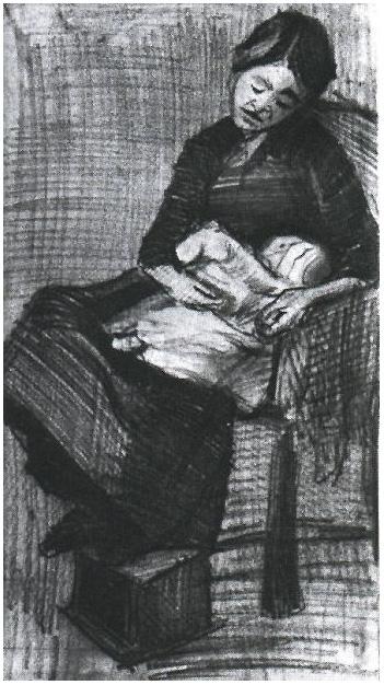 Van Gogh Drawing Sien Nursing Baby