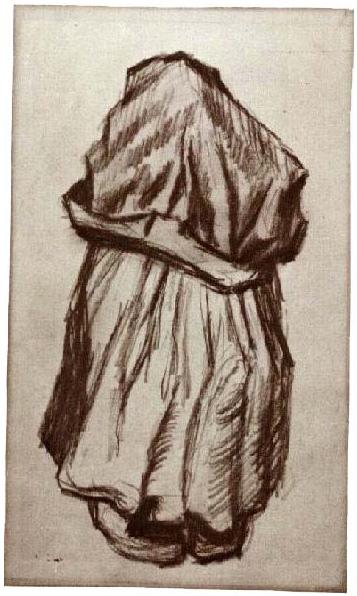 LUCKYPIGEON Vincent Van Gogh Peasant Woman Binding Crops