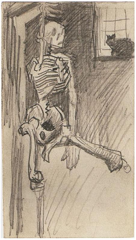 Skeleton By Vincent Van Gogh 1498 Drawing Pencil