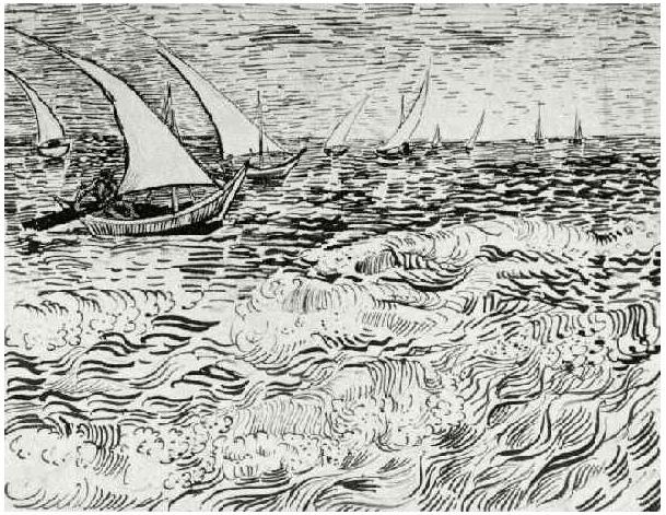 Barcos Pesqueros En Alta Mar De Vincent Van Gogh 945 Dibujos