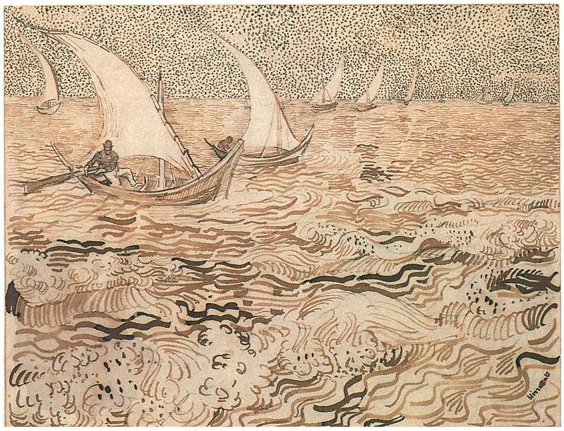 Barcos Pesqueros En Alta Mar De Vincent Van Gogh 947 Dibujos