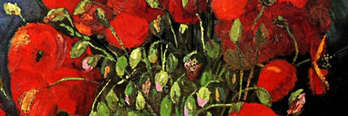 Poppies Van Goghs Field With Poppies Van Gogh Gallery