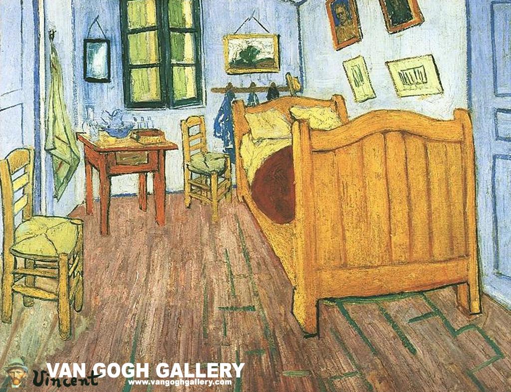 Bedroom In Arles Van Gogh Wheatfield Wallpaper