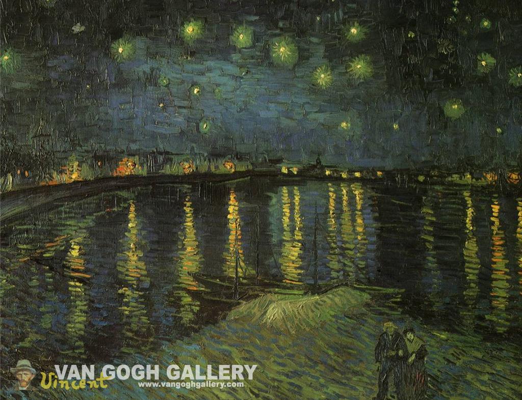 Van Gogh Starry Night Desktop Wallpaper