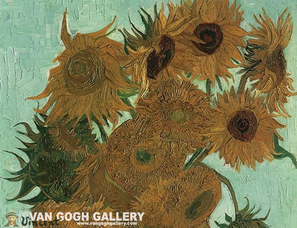 van gogh sunflowers wallpaper sunflowers desktop wallpaper van